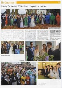 Le journal du lycée St Ivy a accordé une double page sur sa Sainte Catherine, événement sur lequel l'agence a été très active pour la 2e année.